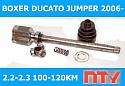 PRZEGUB WEWNĘTRZNY PRAWY NTY  DUCATO 2,2-2,3 JTD BOXER JUMPER 2,2 HDI 06-