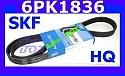 PASEK KLINOWY MICRO-V  WIELOROWKOWY 6PK1836 ALFA 147 156 GT BRAVA MAREA MULTIPLA LYBRA  1,9 TD-JTD