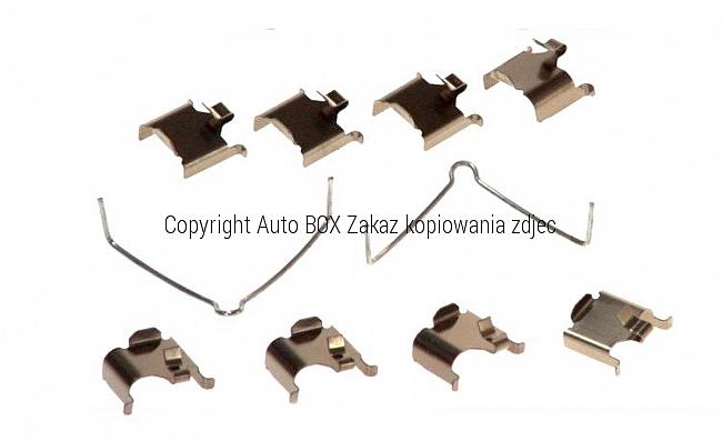 Zestaw naprawczy zestaw instalacyjny-montażowy klocków hamulcowych tylnego zacisku MAZDA 323 626 6