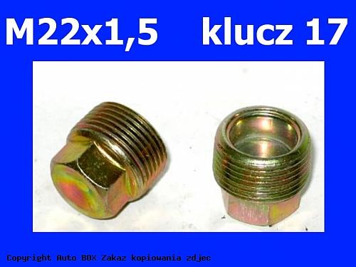 KOREK MISY SPUSTU OLEJU ALFA FIAT LANCIA M22x1,5 klucz 17