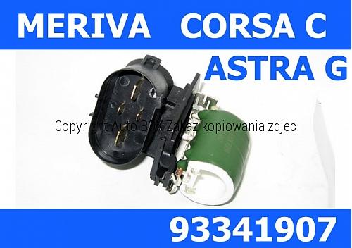OPORNIK REZYSTOR WENTYLATORA CHŁODNICY OPEL CORSA C MERIVA 93341907