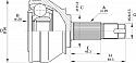 PRZEGUB ZEWNĘTRZNY NTY ALFA ROMEO 147 1.9 JTD 115-140 KM