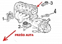 PODUSZKA SKRZYNI SILNIKA LEWA ALFA ROMEO MITO 1.4 FIAT GRANDE PUNTO 1.2-1.4