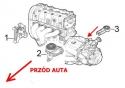 PODUSZKA DOLNA WSPORNIK SILNIKA GIULIETTA BRAVO Delta 1.4 Tjet 1.6 19. 2.0 Multijet FT 51796832 51796834