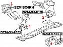 PODUSZKA SILNIKA PRAWA WSPORNIK FIAT SEDICI SUZUKI SX-4 1.6-16V